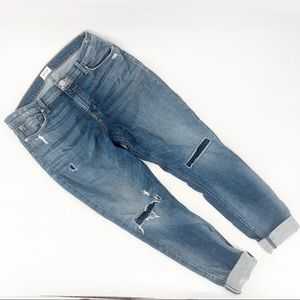 Hudson nico mid rise super skinny jeans distressed